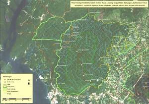 mapa ohnisek požárů