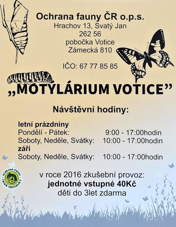 motýlárium Votice