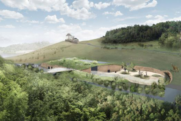 vizualizace nového pavilonu goril