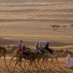 turisté na velbloudech
