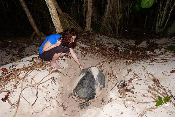 Hana Svobodová s želvou